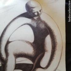 Arte: DIBUJO ORIGINAL DEL ARTISTA CANARIO PLACIDP FLEITA.. UNO DE LOS GRANDES DEL ARTE CANARIO. Lote 180971953