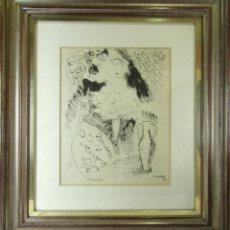 Arte: DIBUJO A TINTA RECUERDO DE MALLORCA EMILI GRAU SALA. Lote 181325257