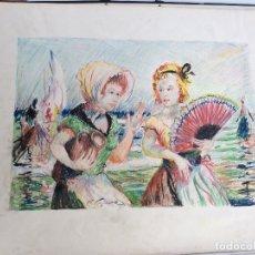 Arte: FIGUERA AYMERICH RAFAEL ,DIBUJO FIRMADO-MEDIDA 65X50 CM. Lote 181527163