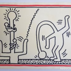 Arte: KEITH HARING ROTULADOR SOBRE PAPEL.ATRIBUIDO. Lote 181575028