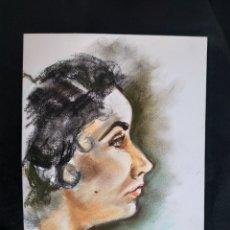 Arte: DIBUJO ORIGINAL A PASTEL. RETRATO.. Lote 181617426