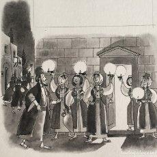 Arte: LAS DIEZ MUCHACHAS. PIERRE MONNERAT (SUIZA 1917-ESPAÑA 2006).FIRMADO Y CATALOGADO. Lote 181715928
