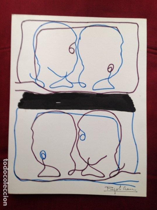 JOAQUIM PUJOL GRAU (BARCELONA 1938 ). TÉCNICA MIXTA/PAPEL. 34'5 X 26'5 CMTRS. (Arte - Dibujos - Contemporáneos siglo XX)