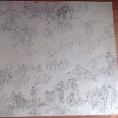 Arte: RICARDO DE VILLODAS. APUNTES DE PERSONAJES Y ESCENAS.. Lote 181981017
