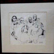 Arte: ALFONSO COSTA BEIRO (. NACIDO EN NOYA -LA CORUÑA) PINTOR // OBRA DE PLUMILLA //. Lote 182350731