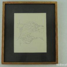 Arte: NICOLAS MARTINEZ ORTIZ -MANOS DEL PINTOR 1969 - TINTA SOBRE PAPEL. Lote 182367040