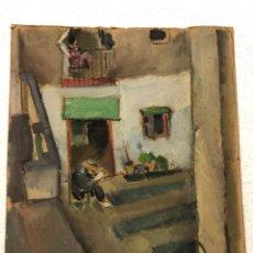 Arte: PINTURA DE RAMON SOLER, DE 1921, PINTURA AL ÓLEO SOBRE CARTÓN, 35X28 CM.. Lote 182626008
