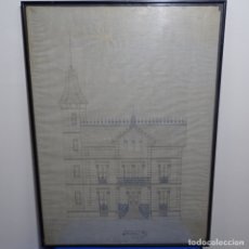 Arte: DIBUJO CASA SEÑORIAL.BARTOLOME PUIG I GALUP (SITGES 1828-1880).. Lote 182646463