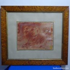 Arte: EXCELENTE DIBUJO-SANGUINA DE FRANCISCO DOMINGO MASQUES(1842-1920)CON SELLO.COLECCION A. PARAMO.. Lote 182648146