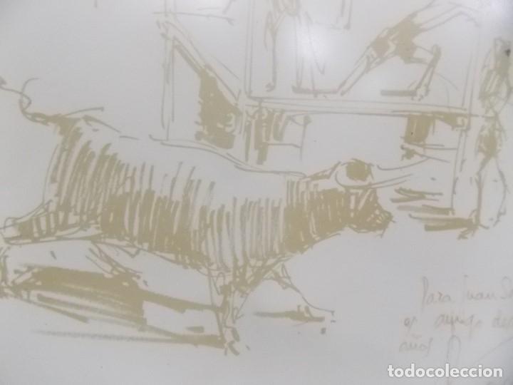Arte: DIBUJO PINTOR ALICANTINO PEREZ GIL bous AL MAR denia -TOROS AL MAR - Foto 6 - 182661711