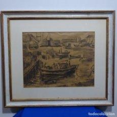 Arte: EXCELENTE DIBUJO A TINTA ANONIMO.. Lote 182696228