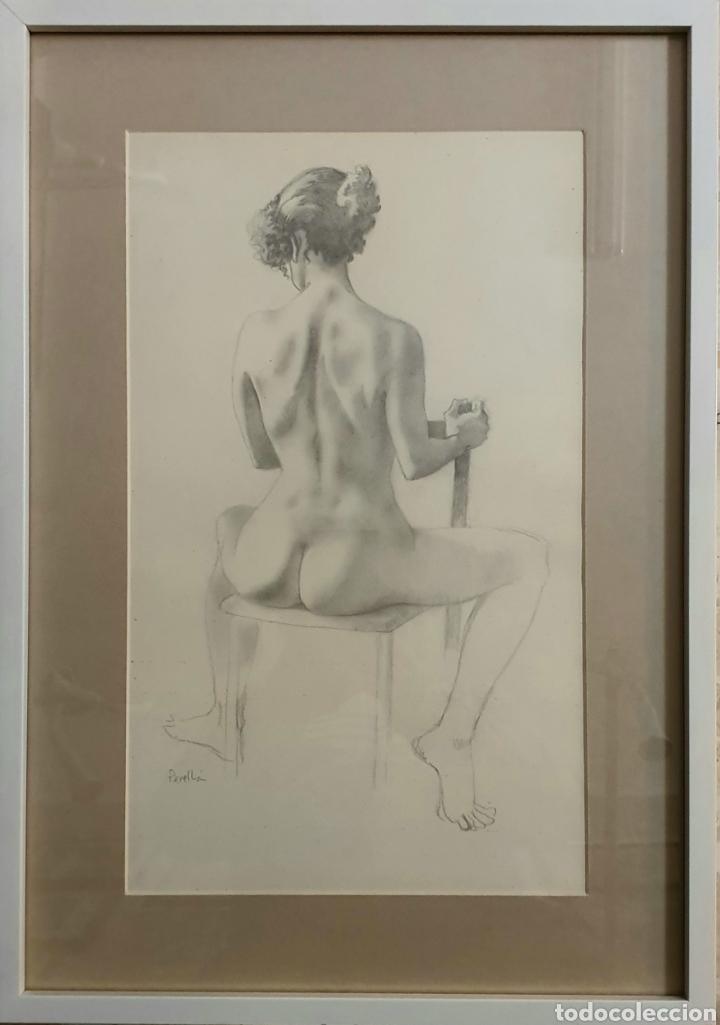 Arte: Celedonio Perellon, precioso dibujo original desnudo femenino firmado. - Foto 2 - 182538433