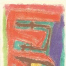 Arte: REQUEJO. DIBUJO A CERAS ABSTRACCIÓN XVIII. PAPEL INGRES FABIANO. 18X15 CM. FIRMADO A MANO. 1984. . Lote 182762436