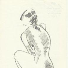 Arte: MARÍA LUISA FRONTERA. DIBUJO ACADÉMICO A LÁPIZ DESNUDO FEMENINO. SIN FIRMAR. 27X21 CM. . Lote 182766200