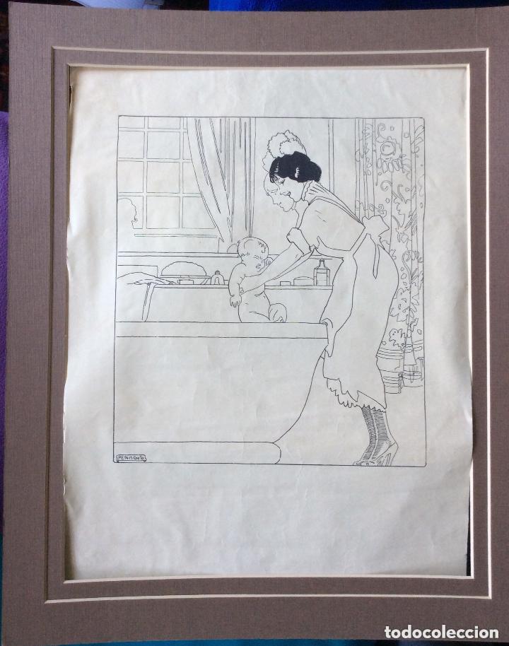PENAGOS RAFAEL ,DIBUJO ORIGINAL PARA ANUNCIO -IDEAL COLECCIONISTAS (Arte - Dibujos - Modernos siglo XIX)