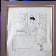 Arte: PENAGOS RAFAEL ,DIBUJO ORIGINAL PARA ANUNCIO -IDEAL COLECCIONISTAS . Lote 182767240