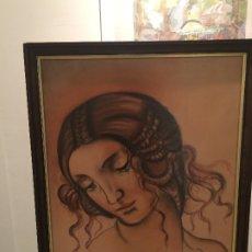 Arte: LEONARDO DA VINCI - BOCETO - LEDA - DIBUJO ORIGINAL - AÑO 82 - MEDIDAS; 71 X 55,5 CMS.. Lote 182792820