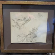 Arte: CUADRO BOCETOS TAURINOS. PINTOR RICARDO CANALS. 1876- 1931 BARCELONA. 36 CM X 33 CM. Lote 182818698