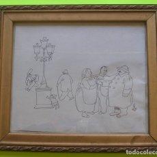 Arte: DIBUJO TINTA SOBRE PAPEL GAIETA CORNET. FIRMADO.. Lote 182872832