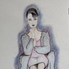 Arte: MODELO SENTADA OBRA DE GILABERTE. Lote 182882887