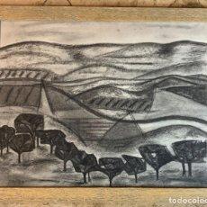 Arte: PAISAJE CON OLIVOS, GINES PARRA. Lote 182997746