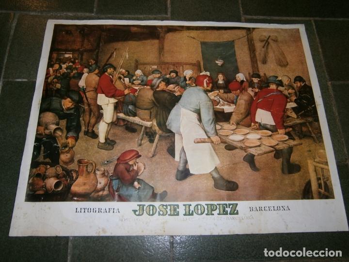 LITOGRAFIA DE JOSE LOPEZ BARCELONA (Arte - Dibujos - Contemporáneos siglo XX)