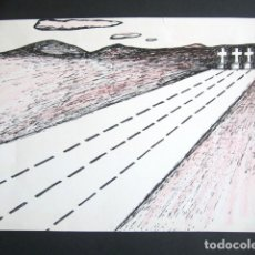 Arte: OPS, ANDRÉS RÁBAGO GARCÍA. DIBUJO ORIGINAL PARA LA CODORNIZ. FIRMADO. 30 X 21 CM.. Lote 183070512
