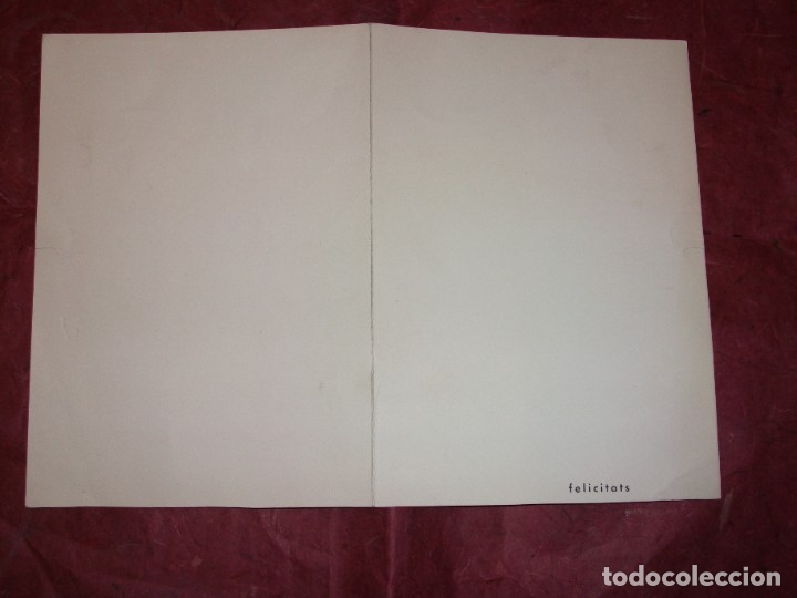 Arte: DIBUJO ORIGINAL DE JAUME MUXART CON FELICITACION NAVIDEÑA PARA 1963 MARTORELL BARCELONA - Foto 2 - 183086957