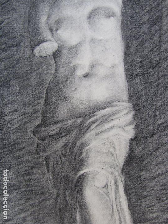 Arte: Dos carboncillos de Ferran Morell. Fundador Equipo Hoz. Años 50 - Foto 2 - 183092255