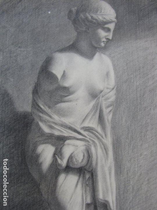 Arte: Dos carboncillos de Ferran Morell. Fundador Equipo Hoz. Años 50 - Foto 3 - 183092255