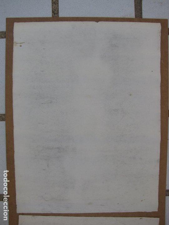 Arte: Dos carboncillos de Ferran Morell. Fundador Equipo Hoz. Años 50 - Foto 7 - 183092255