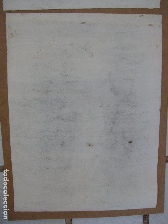 Arte: Dos carboncillos de Ferran Morell. Fundador Equipo Hoz. Años 50 - Foto 8 - 183092255