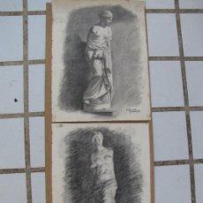 Arte: DOS CARBONCILLOS DE FERRAN MORELL. FUNDADOR EQUIPO HOZ. AÑOS 50. Lote 183092255