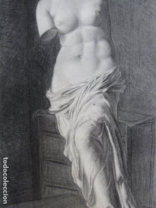 Arte: Dos carboncillos de Ferran Morell. Fundador Equipo Hoz. Años 50 - Foto 2 - 183092415