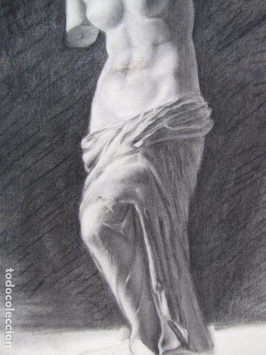 Arte: Dos carboncillos de Ferran Morell. Fundador Equipo Hoz. Años 50 - Foto 3 - 183092415