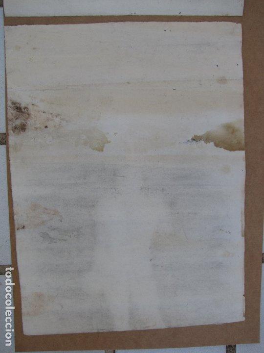 Arte: Dos carboncillos de Ferran Morell. Fundador Equipo Hoz. Años 50 - Foto 8 - 183092415