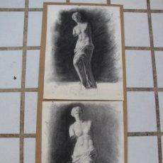 Arte: DOS CARBONCILLOS DE FERRAN MORELL. FUNDADOR EQUIPO HOZ. AÑOS 50. Lote 183092415