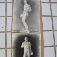 Arte: DOS CARBONCILLOS DE JUVENTUD DE FERRAN MORELL. FUNDADOR EQUIPO HOZ. Lote 183093000