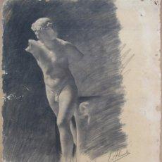 Arte: CARBONCILLO DE JUSTO ALMELA COMPANY 1.898 ANVERSO. REVERSO CARBONCILLO FERRAN MORELL 1950. Lote 183097186