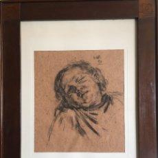 Arte: GIMENO ARASA, FRANCISCO (TORTOSA, TARRAGONA, 1858-BARCELONA, 1927) , DIBUJO AL CARBON, FIRMADO.. Lote 183186476