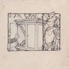 Arte: LOLA ANGLADA I SARRIERA (1892 – 1982) DIBUJO A TINTA. Lote 183200037