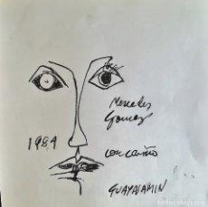 Arte: DIBUJO A TINTA FIRMADO GUAYASAMIN. Lote 183210913
