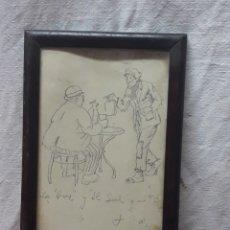 Arte: DIBUJO A LAPIZ .... LA VOZ Y EL SOL.... Lote 183215206