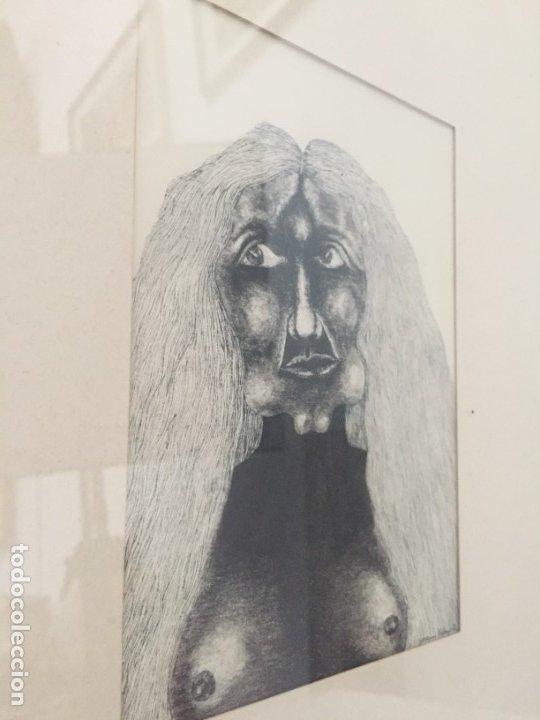 MINIATURA PLUMILLA DE JOAQUÍN PICAZO (Arte - Dibujos - Contemporáneos siglo XX)