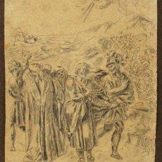 Arte: ESCUELA ESPAÑOLA S.XVIII-XIX. CARBONCILLO/PAPEL 19 X 16 CM. FIRMADO ILEGIBLE.. Lote 183321567