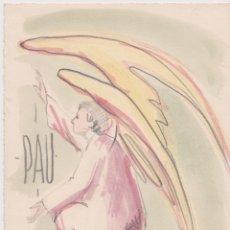 Arte: DIBUJO COLOREADO CON ACUALERA, PAU I FELICITAT DE PASCUAL BUENO - FIRMADO - 1965. Lote 183324260