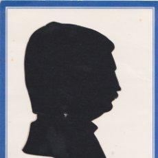 Arte: SILUETA RECORTADA PERFIL HOMBRE - PAPEL NEGRO - AUTOR DESCONOCIDO. Lote 183327542