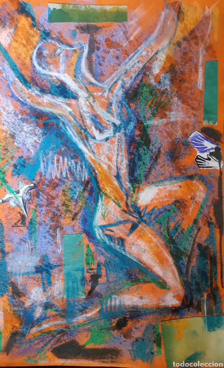 Arte: Dibujo original. Técnica mixta. Abstracción. - Foto 2 - 183331691