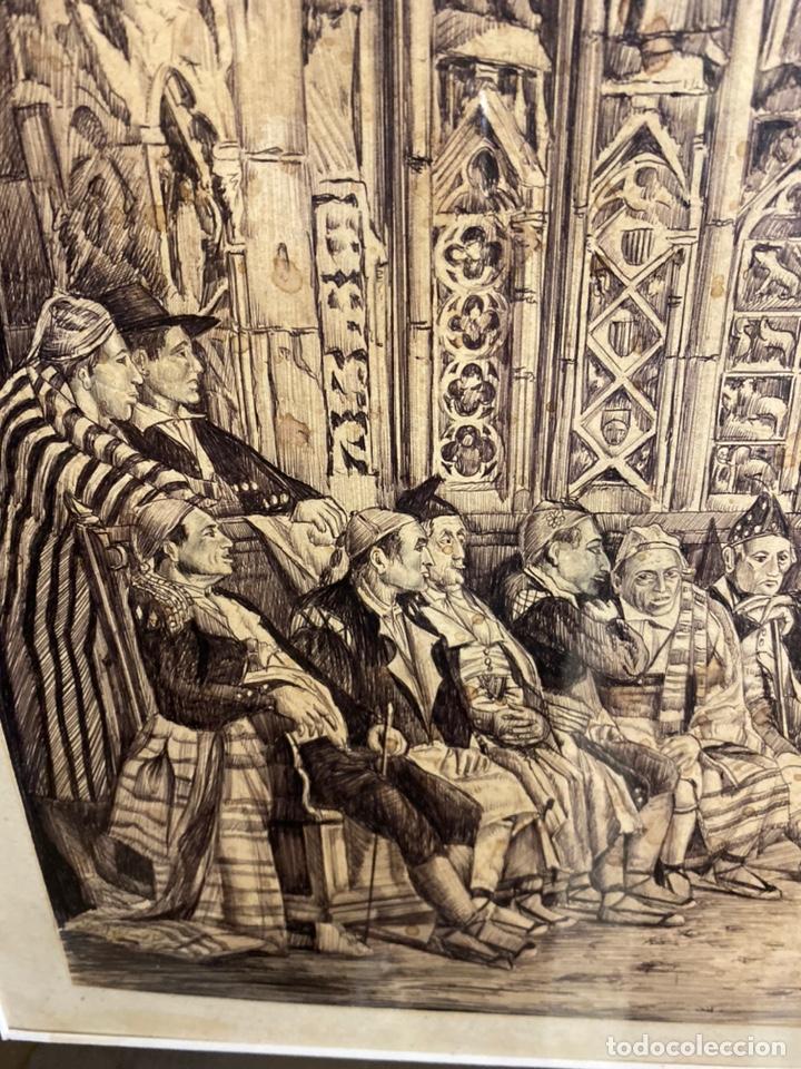 Arte: Bernardo ferrandiz y badenes/el tribunal de las aguas /plumilla sobre papel firmado B.ferrandiz - Foto 5 - 183363596