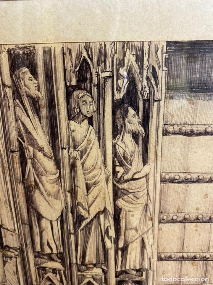 Arte: Bernardo ferrandiz y badenes/el tribunal de las aguas /plumilla sobre papel firmado B.ferrandiz - Foto 6 - 183363596